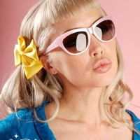 Tres A Go Go Sunglasses in Baby Pink from Tres Noir | Pinup Girl Clothing