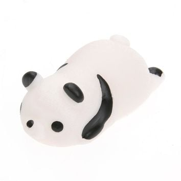 1Set Squishy Cute Mini Squeeze Stretchy Animals Healing Stress Polar Bear, Panda and Fat Chicken Healing Stress Dolls