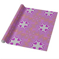 Pink/Silver Glittery Star Wrapping Paper