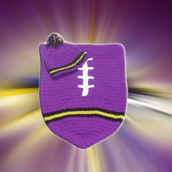 Baltimore Ravens Inspired Football Baby Cocoon & Hat (Newborn to 3 months)