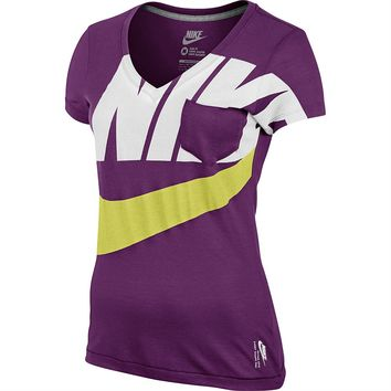 Womens Nike Clothing - Rebel Sport - Nike Womens Mid V Epic Futura Tee