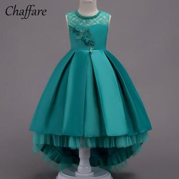 Chaffare Girls Party Dress Lace Wedding Mermaid Vestidos Kids Dresses For Girl Birthday Ball Gown Princess Dress Robe Flle