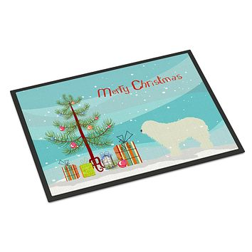Komondor Merry Christmas Tree Indoor or Outdoor Mat 24x36 BB2973JMAT