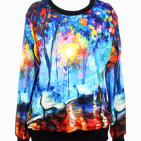 MultiColor Printed Sweatshirt