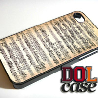 Mozart Sheet Music iPhone Case Cover|iPhone 4s|iPhone 5s|iPhone 5c|iPhone 6|iPhone 6 Plus|Free Shipping| Delta 510