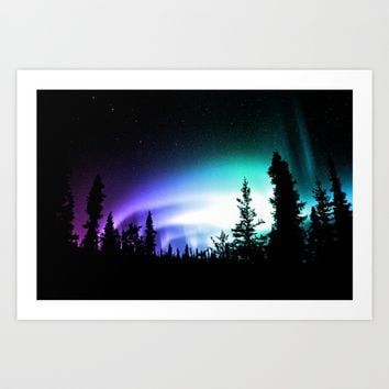 Aurora Borealis Forest Art Print by 2sweet4words Designs