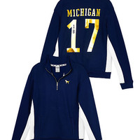 University Of Michigan Boyfriend Half-Zip - PINK - Victoria's Secret