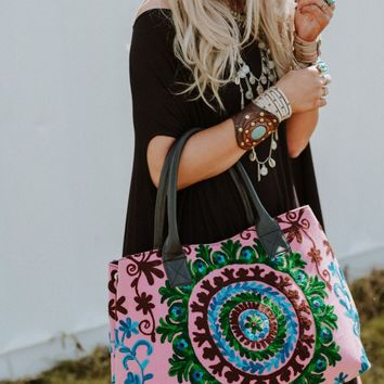 Jet Set Embroidered Tote