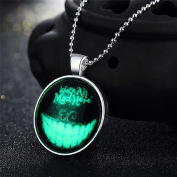 Gift Shiny Stylish Jewelry New Arrival Accessory Skull Terrible Noctilucent Necklace [8065789889]