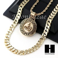"ICED OUT ALLAH ROUND ROPE CHAIN DIAMOND CUT 30"" CUBAN LINK CHAIN NECKLACE S013"