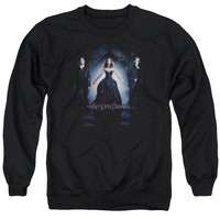 VAMPIRE DIARIES/BRING IT ON - ADULT CREWNECK SWEATSHIRT - BLACK -