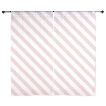 Pink Curtains - Chiffon Curtains - Sheer Curtains - Dorm Room Curtains - Girls Curtains - Bedroom Curtains - Teen Curtains - Stripes