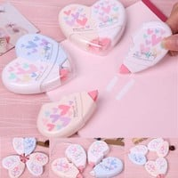 10m Heart Shape Correction Tape Student Stationery Office & School Supplies