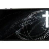 Cross Frees Christian - Best 3 in 1 rubber cell phone case for iPhone 4, iPhone 4S - Black