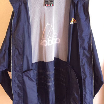 ADIDAS Mens Vintage 80s 90s Windbreaker Windrunner Jacket Size XXL 2XL