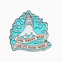 Shark Week Enamel Pin