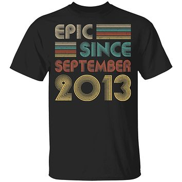 Epic Since September 2013 Vintage 7th Birthday Gifts Youth