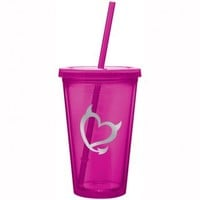 Bad Girls Club Pink Grey Heart Tumbler