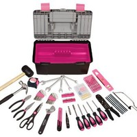 Apollo Precision Tools DT7102P Household Tool Kit with Tool Box, Pink, 170-Piece