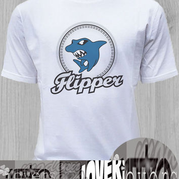 Flippers Deadmoon TShirt Tee Shirts Black and White For Men and Women Unisex Size