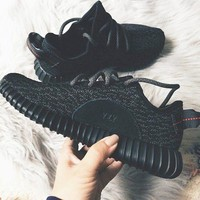 "Trending ""Adidas"" Women Men Yeezy Boost Sneakers Running Sports Shoes B/A Black"