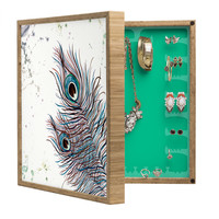 Monika Strigel Boho Peacock Feathers BlingBox Petite
