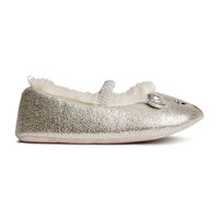 H&M - Soft Slippers - Silver - Kids