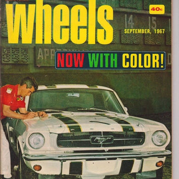 2 Year Sale 65 Mustang September 1967 Vintage Car Magazine Christmas Gift Idea 50th Birthday Men's Gift 1960s Retirement Gift Photo Prop Aut