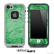 Crumpled Green Paper Skin for the iPhone 5 or 4/4s LifeProof Case