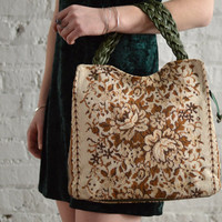 Floral Needlepoint Purse