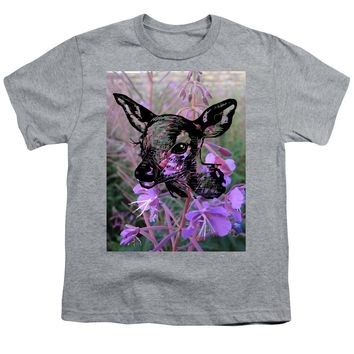 Deer On Flower - Youth T-Shirt