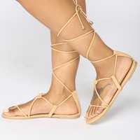 Coastline Wrap Sandals - Nude