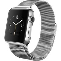 Apple - Apple Watch™ 38mm Stainless Steel Case - Milanese Loop