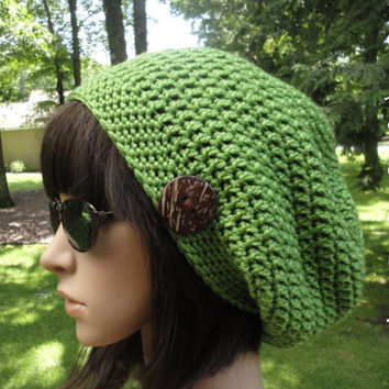 Crochet Hat Pattern - Slouchy Hat - Crochet Slouchy Hat, Slouchy Beanie, Women Men Teen, Crochet Unisex Hat Pattern, #203