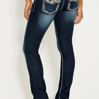 denim flex ™ embellished pocket slim boot jeans