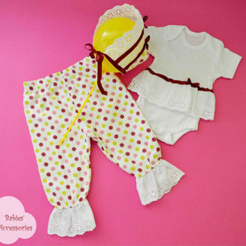 Baby Girl Set, Polka Dot, Cotton Pants, Baby Headband, Cotton T-shirt, Cotton Lace, Christmas Gift, Baby Flannel , Baby Hat, Newborn baby