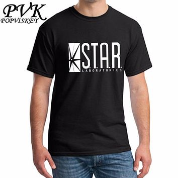 STAR labs new fashion T shirt men summer tops tees jumper the flash gotham city comic books superman tv series men's T-shirt
