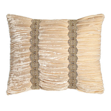 "Bellissima Ruched Velvet Pillow, 15"" x 20"" - Sweet Dreams"