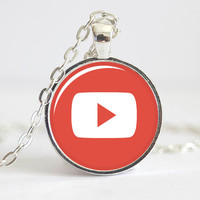 YouTube Play Button Necklace