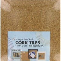 "12"" x 12"" Light Square Cork Tiles 