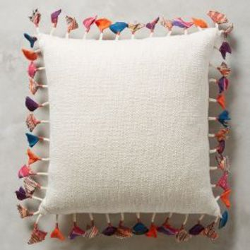 Tasseled Jacare Pillow by Anthropologie