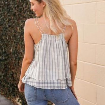Out West Striped Linen Tank