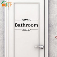 Bathroom Wall Stickers Door Sign Adhesive Stickers Removable Vinyl Wall Decals