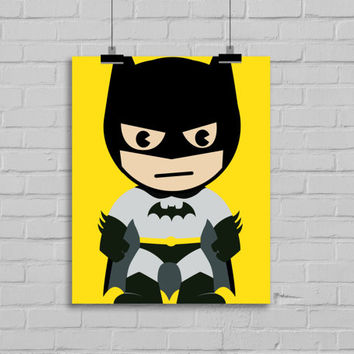 Batman Print - Batman Art, Superhero Pop Art, Instant Download , PRINTABLE 8x10, Kids Wall Art , Nursery Wall Art, Playroom Art
