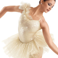 Sequin Ruffle Shoulder Leotard -Weissman Costumes