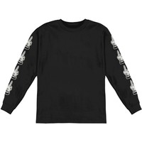 Bring Me The Horizon Men's  Devils Hand  Long Sleeve Black Rockabilia