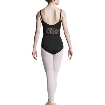 Mesh Cami Panel Leotard (Adult) L9927 Bloch (Black)