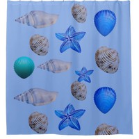Sea shell's shower curtain
