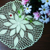 Spring Leaves Doily from Heritage Heartcraft