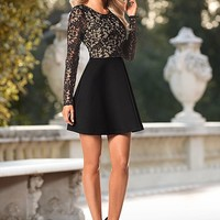 Flared lace trim dress in the VENUS Line of Dresses for Women